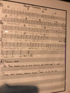 sheet music for the song Merry Christmas Day, from What's New Scooby-Doo?