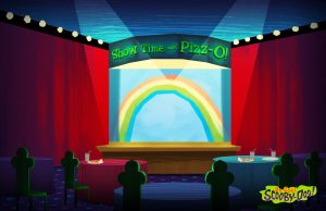 Show Time with Pizz-O background in Be Cool Scooby-Doo!